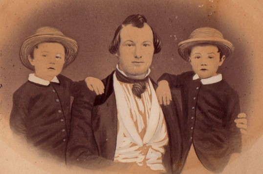 1850 Portrait of Alfred, Edwin and Edward Banks