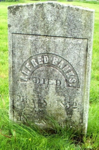 Alfred Banks Tombstone Died May 8, 1852