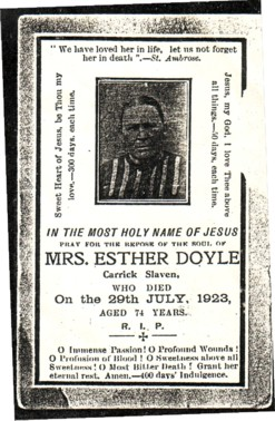 Esther O'Rourke Doyle ~1850 - 1923