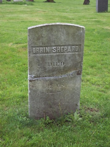 Orrin Shepard Tombstone : Newtown CT