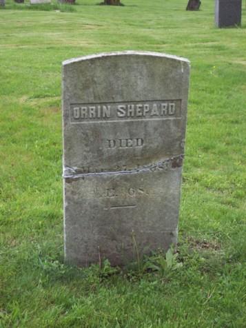 Orrin Shepard Tombstone : Newtown CT