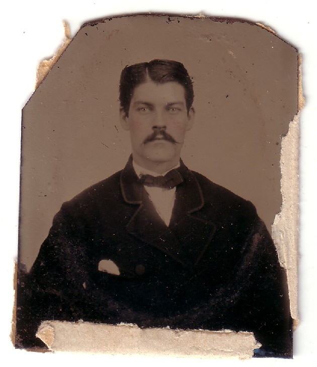 Sanders - Fryher Photo - Tin Type Photo - man before 1900