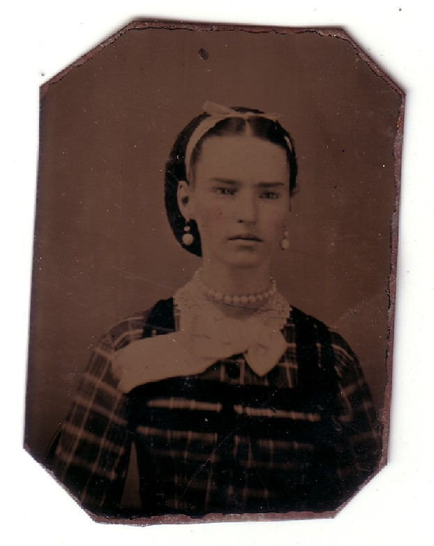Sanders - Fryher Photo - Tin Type Photo - woman before 1900