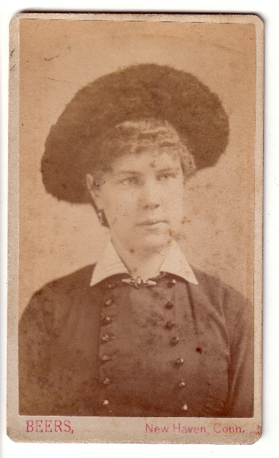 carte-de-visite woman in hat