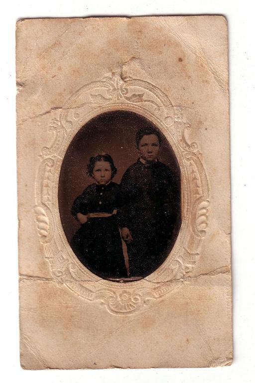 Sanders - Fryher Photo - tin type - two young children - prior to 1900
