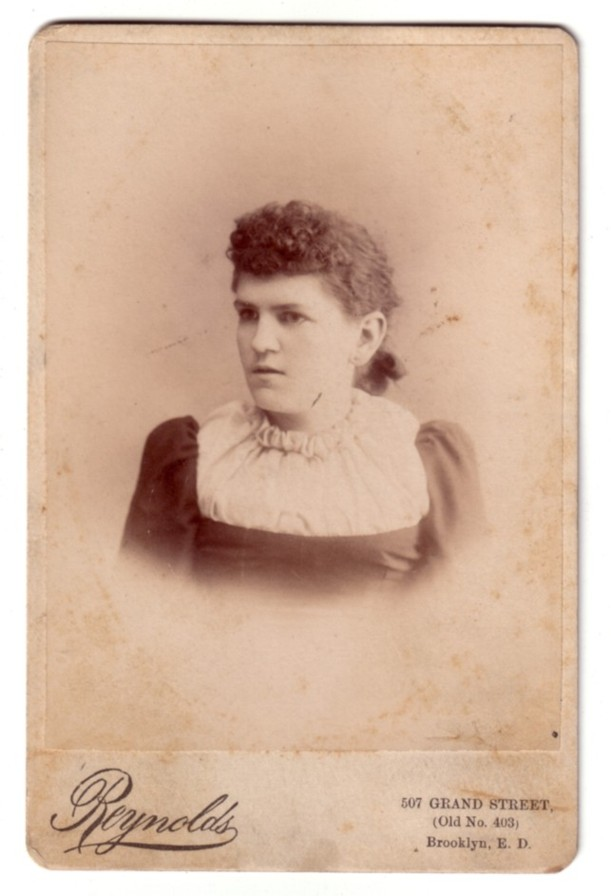 Cabinet Card of a middle aged woman in Brooklyn, New York