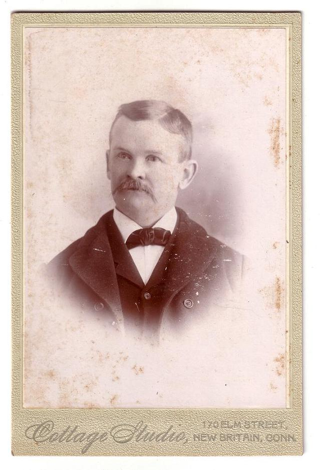 Cabinet Card of a middle aged man in New Britain, Connecticut